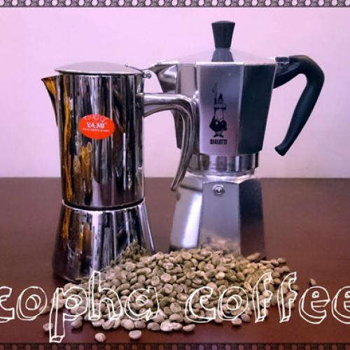 Pha cà phê bằng bình Moka Express