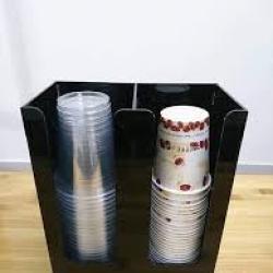Hộp đựng ly nhựa 2 ngăn Meka
